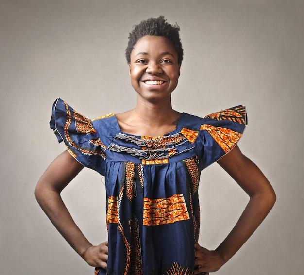 アフリカの女の子の肖像画