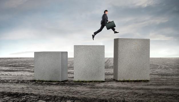 ビジネスマンのキャリアステップ