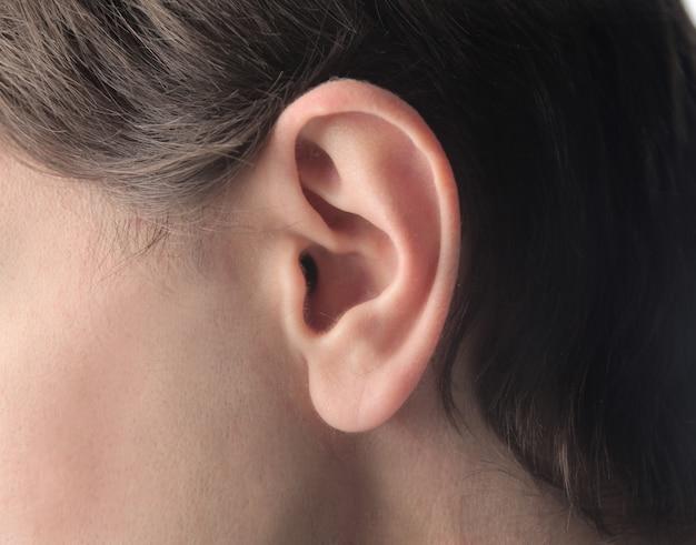 Крупным планом уха