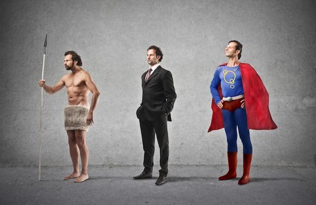男の発達と進化