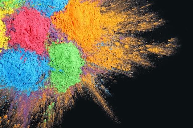 インドのホーリー祭の色の背景