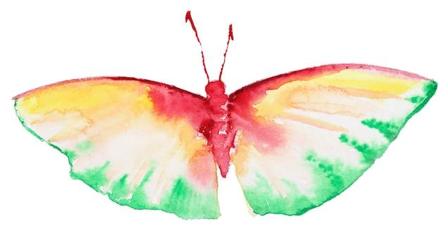 Абстрактная акварель рисованной бабочка