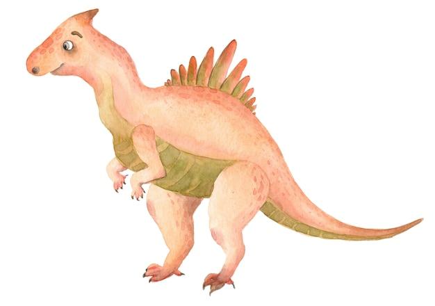 Акварельные динозавры тиранозавр