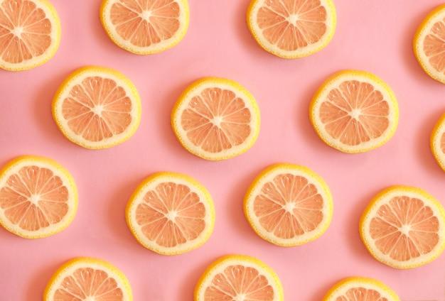 レモンスライスはトレンディな模様です。