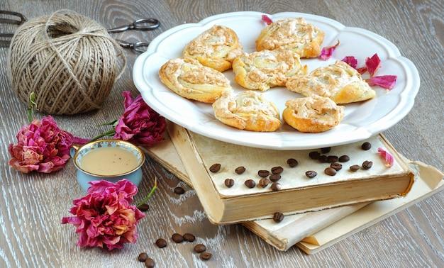 Безе печенье из творога в виде роз