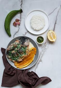 コロンビアとメキシコ、ベネズエラ料理、川マス