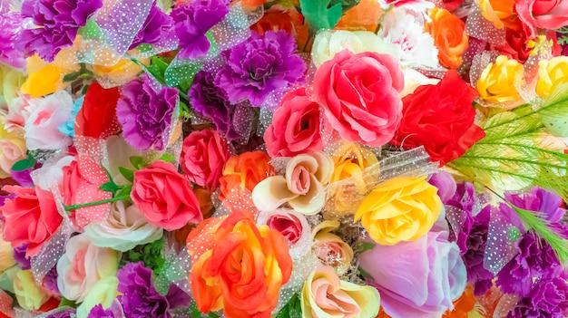 Красивый букет цветов. концепция природы и декора. день святого валентина и концепция годовщины