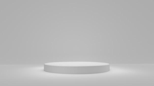 白い製品は白い背景の上に立つ