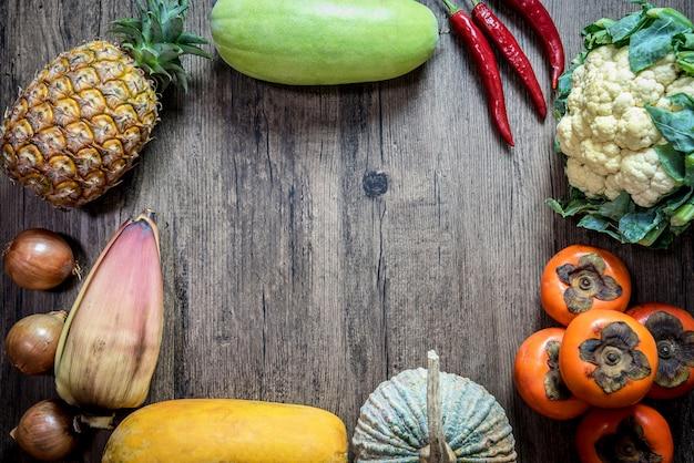 Азия тропические органические натуральные химические бесплатные фрукты и овощи