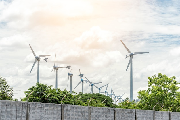 Электрические ветряные мельницы для генератора мощности, технология и природа