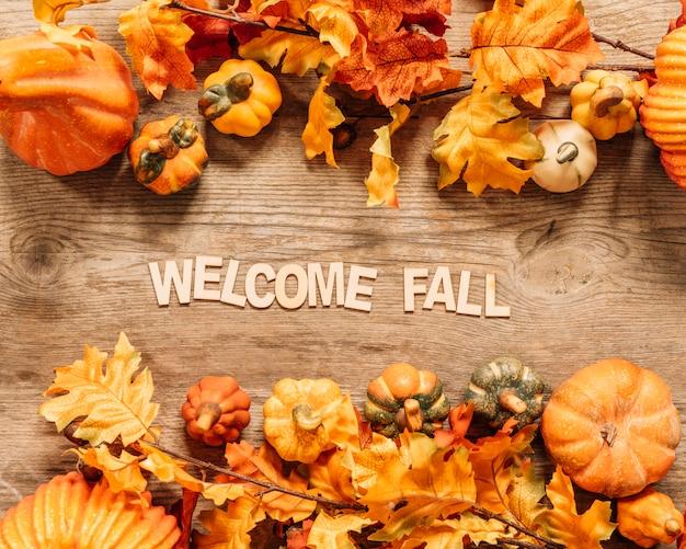 美しい歓迎の秋の組成