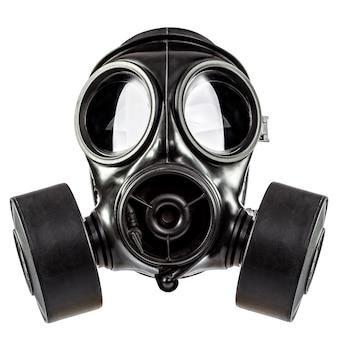 白の防毒マスク