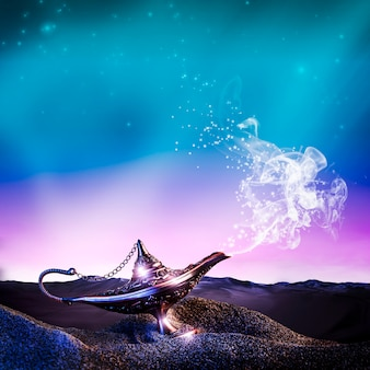 Лампа аладдина в пустыне