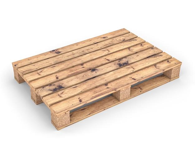 白の木製パレット