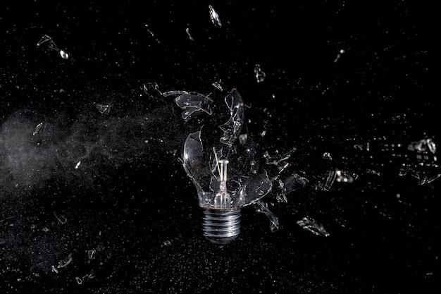 ガラス電球爆発