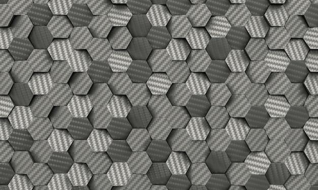 Углеродное волокно с шестигранной фон