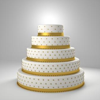 ゴールデンウェディングケーキ