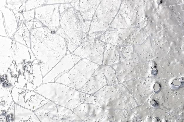 ひびの入った氷の背景