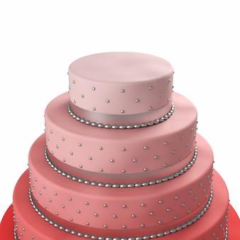 カラフルなウェディングケーキ