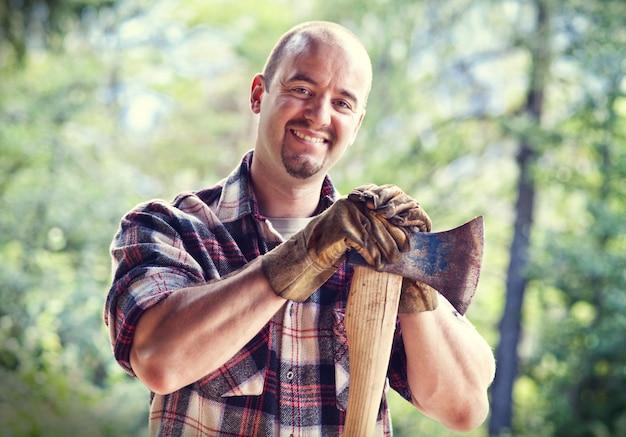 斧と木こり