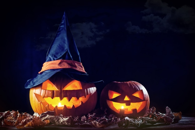 Хэллоуин тыква в темноте