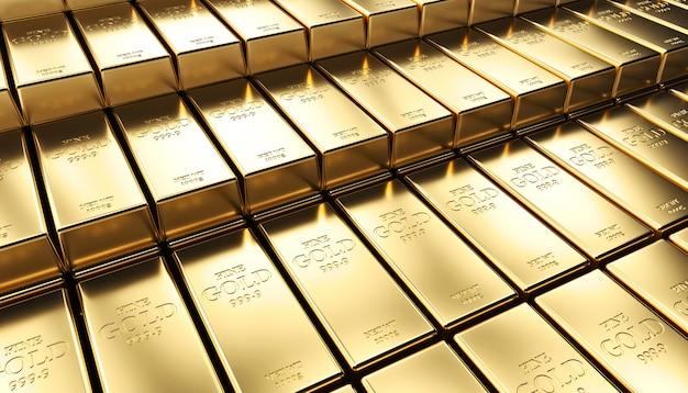 黄金のインゴットの背景