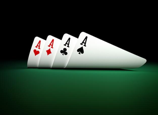 ポーカーカードの背景