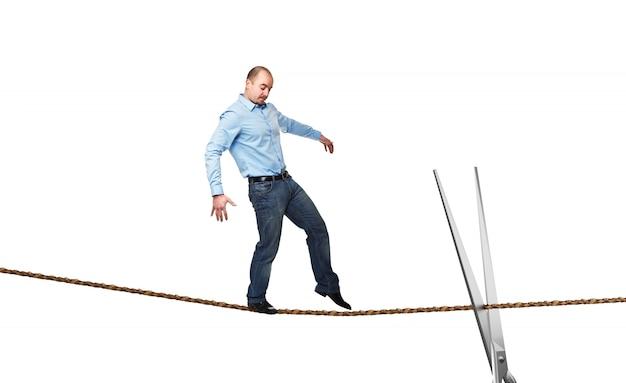 ロープ上のアクロバット
