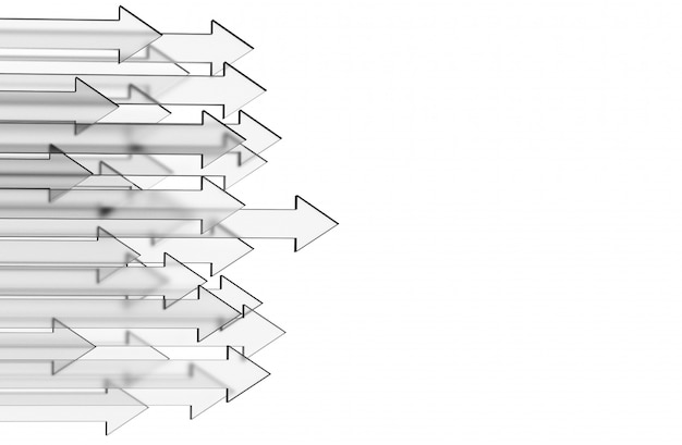 ガラスの矢印とビジネスの背景