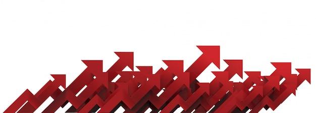 白地に赤い矢印