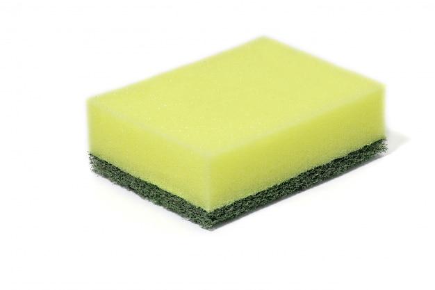 緑のナイロン繊維ウールクリーナー、洗剤、家庭用クリーニングスポンジのクリーニング
