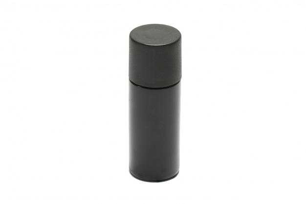 Пластиковая бутылка для ухода за телом и косметики из пластиковой бутылки для шампуня - изолированные