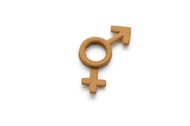 カートンの男性と女性のシンボル