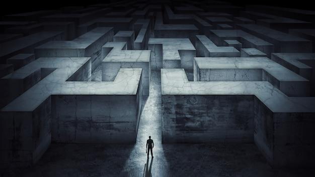 ビジネスマンの挑戦成功のためのコンセプト