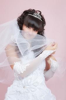 幸せな花嫁の肖像画