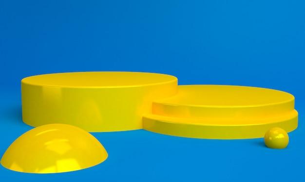 Минималистский абстрактный фон с геометрической желтой фигурой