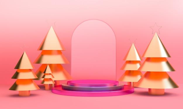 Минималистская геометрическая рождественская тема
