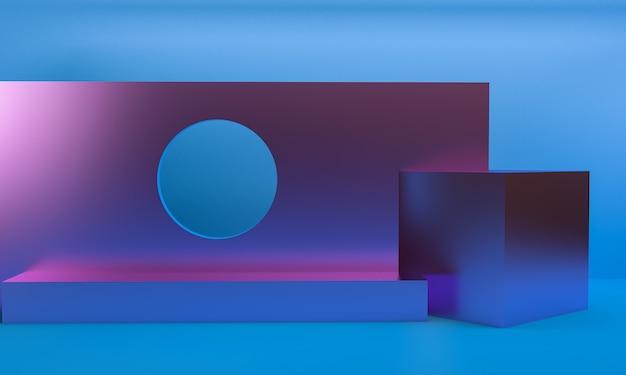 幾何学的形状シーン最小限のスタイル