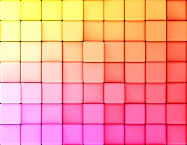 キューブの抽象的な背景のグラデーション