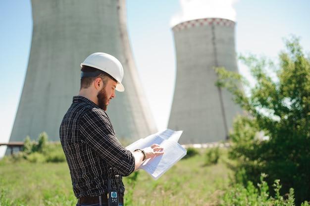 発電所でのエンジニアリング作業、情報の確認