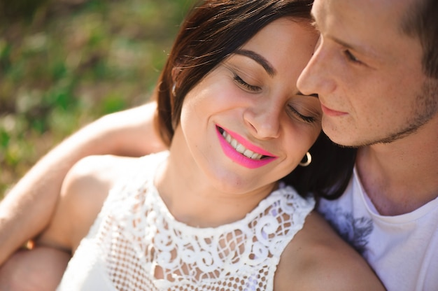 愛の物語、若いカップルの肖像画