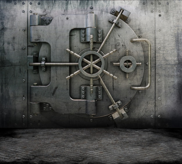 銀行の金庫室とグランジインテリア