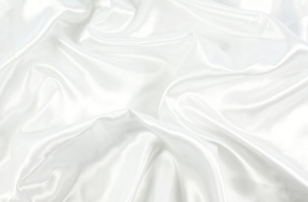 ホワイトサテンのテクスチャ背景
