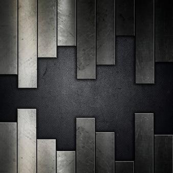抽象的なグランジ金属の背景