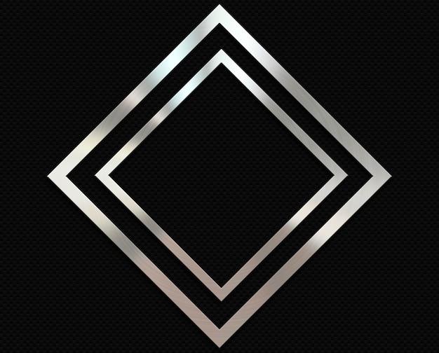 Карбоновый фон с металлической алмазной рамкой