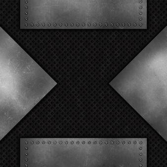 グランジ抽象的な金属の背景