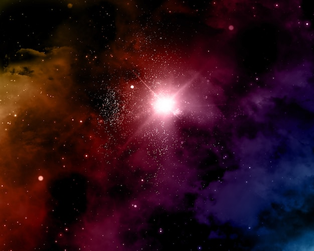 星雲と宇宙の背景