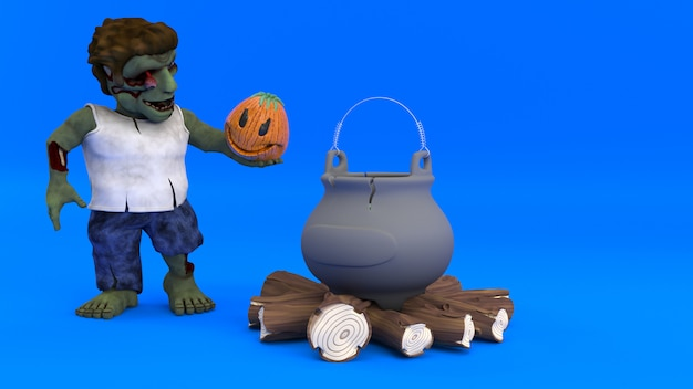Персонаж мультфильма зомби