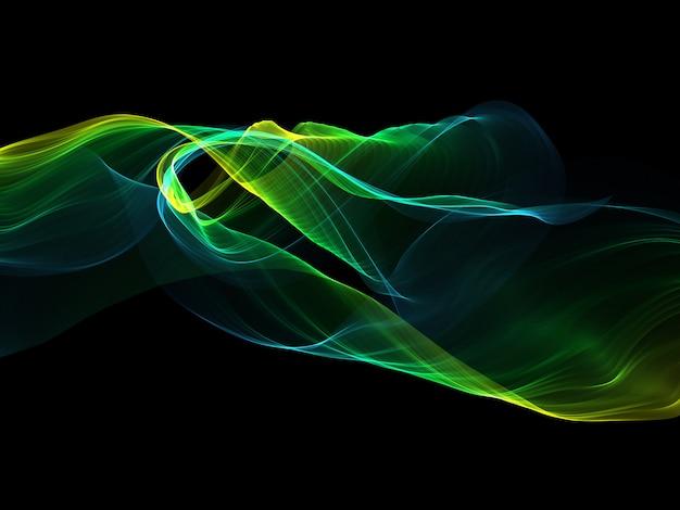 流れるようなラインと抽象的な背景
