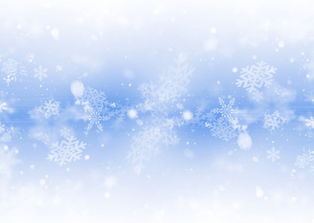 Снежинки фон